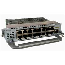 CISCO NME-16ES-1G-P 16-PORT 10/100 PoE ETHERSWITCH PLUG-IN MODULE 1-PORT GIGABIT