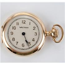 Antique Vintage Waltham Ladies Pocket Watch Circa 1906 W/ 14k Yellow Gold Case