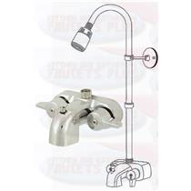 Chrome Clawfoot Tub Add-A-Shower Kit