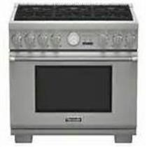 """Thermador  Pro Grand 36"""" 6 Burner Pro-Style Gas Range Stainless PRG366JG Images"""