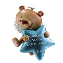 Carlton American Greetings 2011 Godchild - Teddy Bear with Star - #AGOR255Z