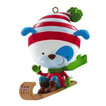 Carlton American Greetings 2011 Son - Puppy on a Sled - #AGOR008Z