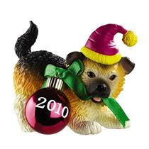 Carlton Heirloom Ornament 2010 Puppy Love #10 - German Shepherd - #CXOR044X