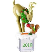 Carlton Heirloom Ornament 2010 Ice Pals #19 - Reindeer and Squirrel - #CXOR045X