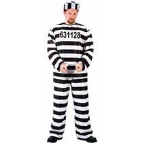 Jailbird Adult Prisoner Costume