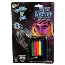 Black Light Neon Makeup Sticks with Sharpener and Blacklight