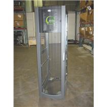 HP 42U Rackmount Cabinet 10642 Gr. Metallic 245169-001 w/ Door NO PANELS [54]