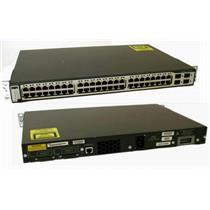 Cisco WS-C3750-48TS-E Catalyst 3750 48-Port 10/100 4 SFP Uplinks Stack Switch
