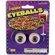 Realistic Funny Plastic Pair of Eyeballs Novelty Prop