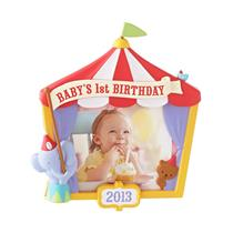 Hallmark Keepsake Ornament 2013 Baby's 1st Birthday - Photo Holder - #QXG1822