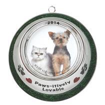 American Greetings Carlton Ornament 2014 Pet Bowl Frame Photo Holder - #CXOR024F