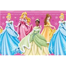 Disney's Princess Belle, Cinderella, Tiana & Aurora Wrapping Paper - 40 Sq Ft - W14-4102-DP