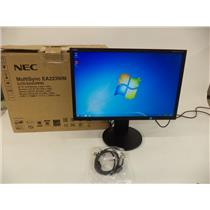 "NEC EA223WM-BK MultiSync 22"" LED-Backlit LCD Display - BLACK"