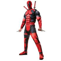 Men's Marvel Universe Classic Muscle Chest Deadpool Costume Standard Size