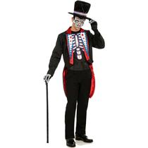 Day of the Dead Male Adult Skeleton Costume