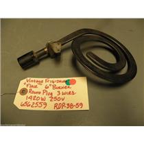 """6562559 Vintage """"Flair"""" 6"""" Burner Round Plug 3 Wire 1420W 250Volt Mod RDP-38 -59"""