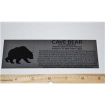 CAVE BEAR Large Metal Display Label For Fossils #10707 2o