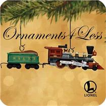 2002 The General Steam Locomotive and Tender - Set of 2 Lionel Miniature Ornaments - QXM4366