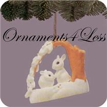 1988 Christmas is Sharing - Keepsake Club Ornament - QX4071 - AGE SPOTS ON BOX