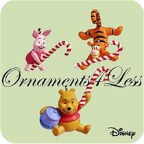 2004 Candy Cane Trio - Set of 3 Miniature Ornaments - QXM5114 - SDB