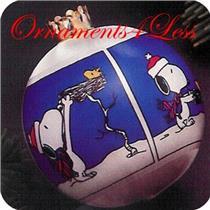 1983 Peanuts - White Satin Ball - QX2127 - NO BOX