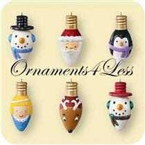 2006 Merry and Bright - Set of 6 Miniature Ornaments - QXM2183 - DB