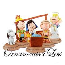 2012 Glad Tidings Nativity Peanuts Gallery Figurines - Set of 7 - XKT1037 - SDB