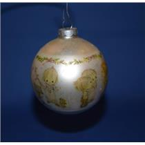 1974 Betsey Clark - Glass Ball - QX1081 - NO BOX WITH AGE SPOTS ON ORNAMENT