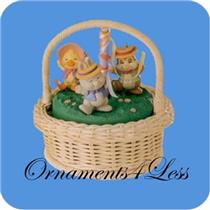 1993 Maypole Stroll - Set of 3 Spring Ornaments - SDB WITH NO TAG