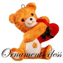 1988 Porcelain Bear #6 - Cinnamon Bear - QX4044 - NEAR MINT BOX