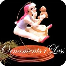 1987 Christmas Time Mime - Limited Edition Ornament - QX4429 - AGE SPOTS ON BOX