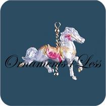 1994 Graceful Carousel Horse - Miniature Ornament - QXM4056 - SDB