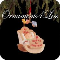 1990 Baby's First Christmas - Miniature Ornament - QXM5703