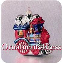 1998 Festive Locomotive - Crown Reflections Blown Glass - SDB