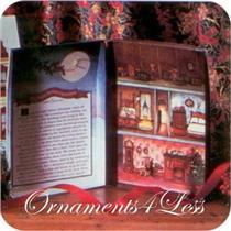 1992 The Night Before Christmas #1 - Miniature Ornament and Tin House - QXM5541 - SDB