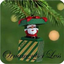 2001 Santa in a Box - Miniature Ornament - QXM5355 - SDB
