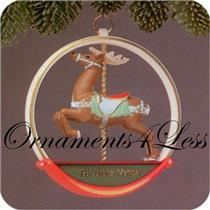 1987 Carousel Reindeer - Club Ornament - QXC5817 - NEAR MINT BOX