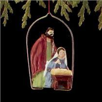 1988 Holy Family - Miniature Ornament - QXM5611 - DB