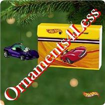 Hallmark Keepsake Ornament 2001 Hot Wheels 1968 Silhouette and Case - QX6605-SDB