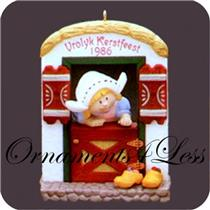 1986 Windows of the World #2 - Holland - Vrolyk Kerstfeest - QX4083 - NR-MINT BOX