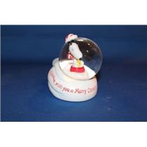 2010 Snoopy on Sled Water Globe - XOX5010