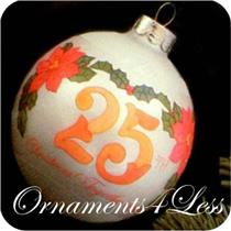 1980 25th Christmas Together - Glass Ball - QX2061 - SDB AND ORNAMENT HAS SOME AGE SPOTS