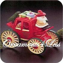 1988 Here Comes Santa #10 - Kringle Koach - QX4001