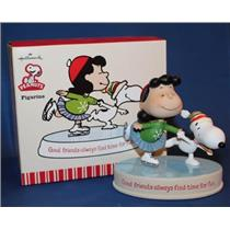 2010 Good Friends Always Find Time For Fun - Peanuts Gang Lucy and Snoopy Figurine - XOX5002 - SDB