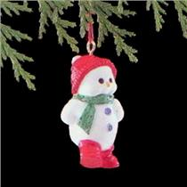 1989 Strollin Snowman - Miniature Ornament - QXM5742 - DB