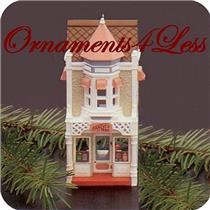 1986 Nostalgic Houses and Shops #3 - Christmas Candy Shoppe - #QX4033 - NO TAG