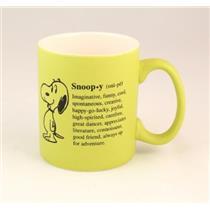 2012 Snoopy Personality Collectible Ceramic Mug - #PAJ4611 -  READ DESCRIPTION
