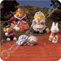 1996 Alice In Wonderland - Set of 5 - Merrry Miniatures - #QSM8014-SDB
