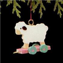 1988 Folk Art Lamb - Miniature Ornament - #QXM5681 - DB