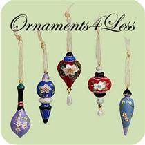 2004 Holiday Bouquet - Set of 5 Miniature Ornaments - #QXM5244